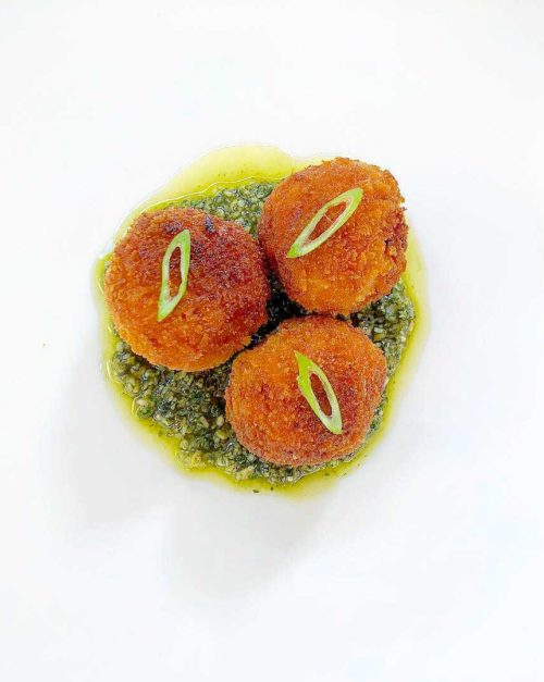 Arancini recipe Tomato and Pesto