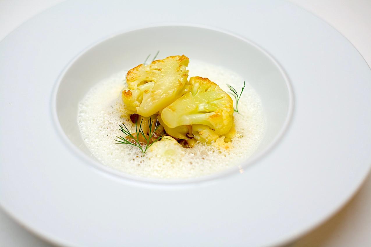 Cauliflower with truffle and mushroom