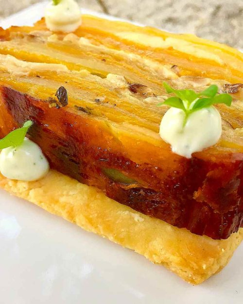 Butternut squash Potato Terrine recipe with Sable