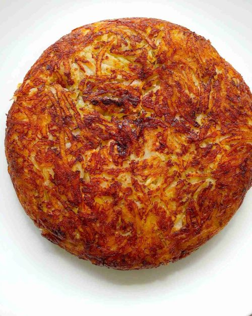 Potato hash browns recipe with smoked salmon