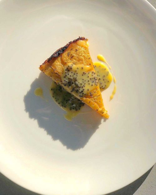 Rutabaga recipe pave with caviar butter sauce