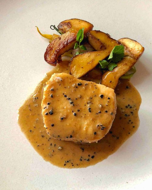 Sea Bass recipe with porcini and truffle