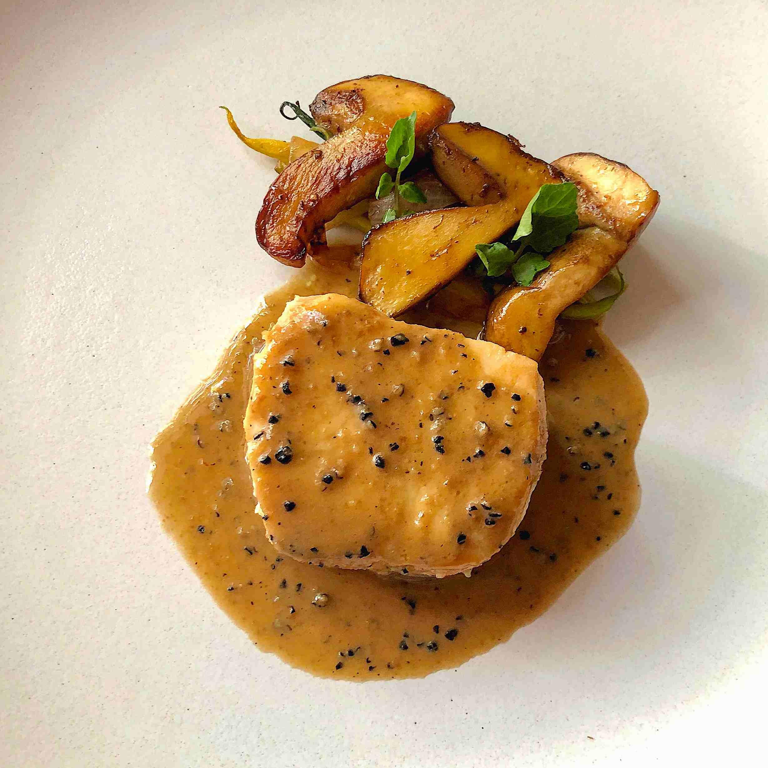 Sea Bass recipe with porcini and truffle