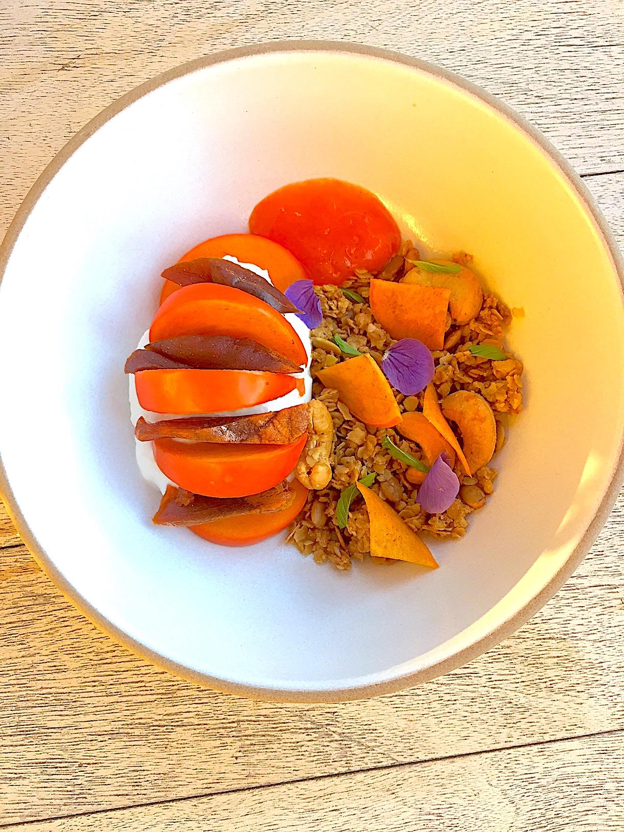 granola bowl recipe with persimmon