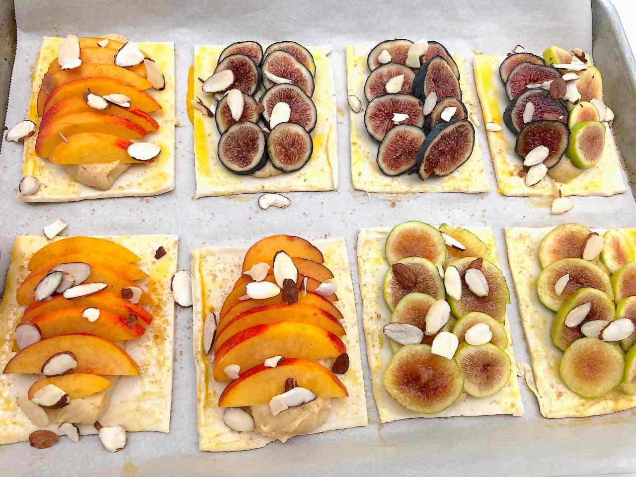 stone fruit tart raw