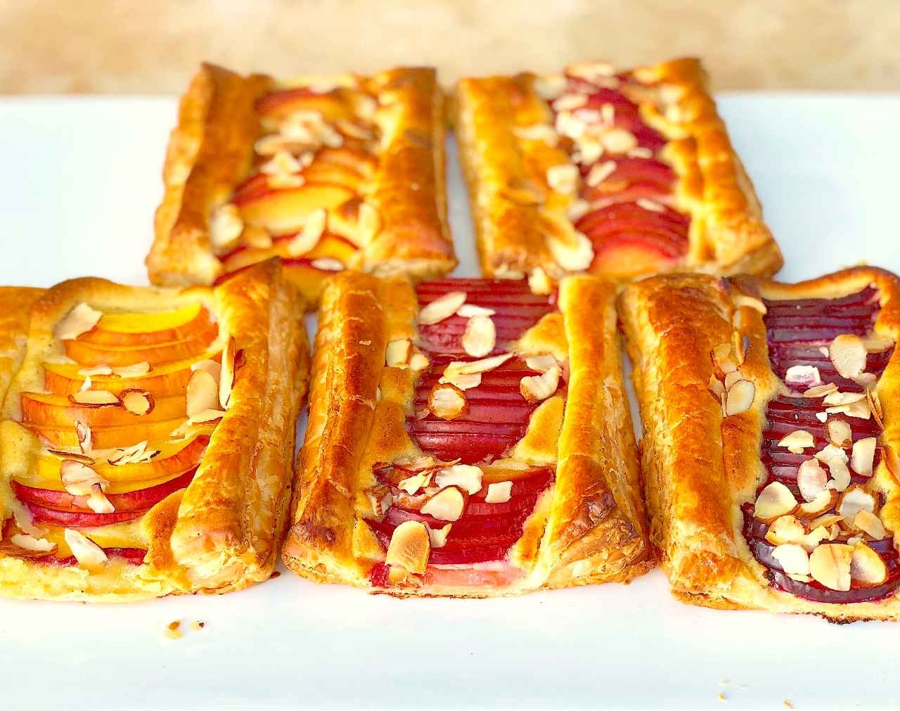 Fruit tart recipe with almond and stone fruit