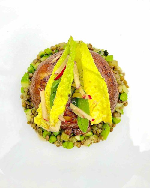Lentil Salad recipe with portobello