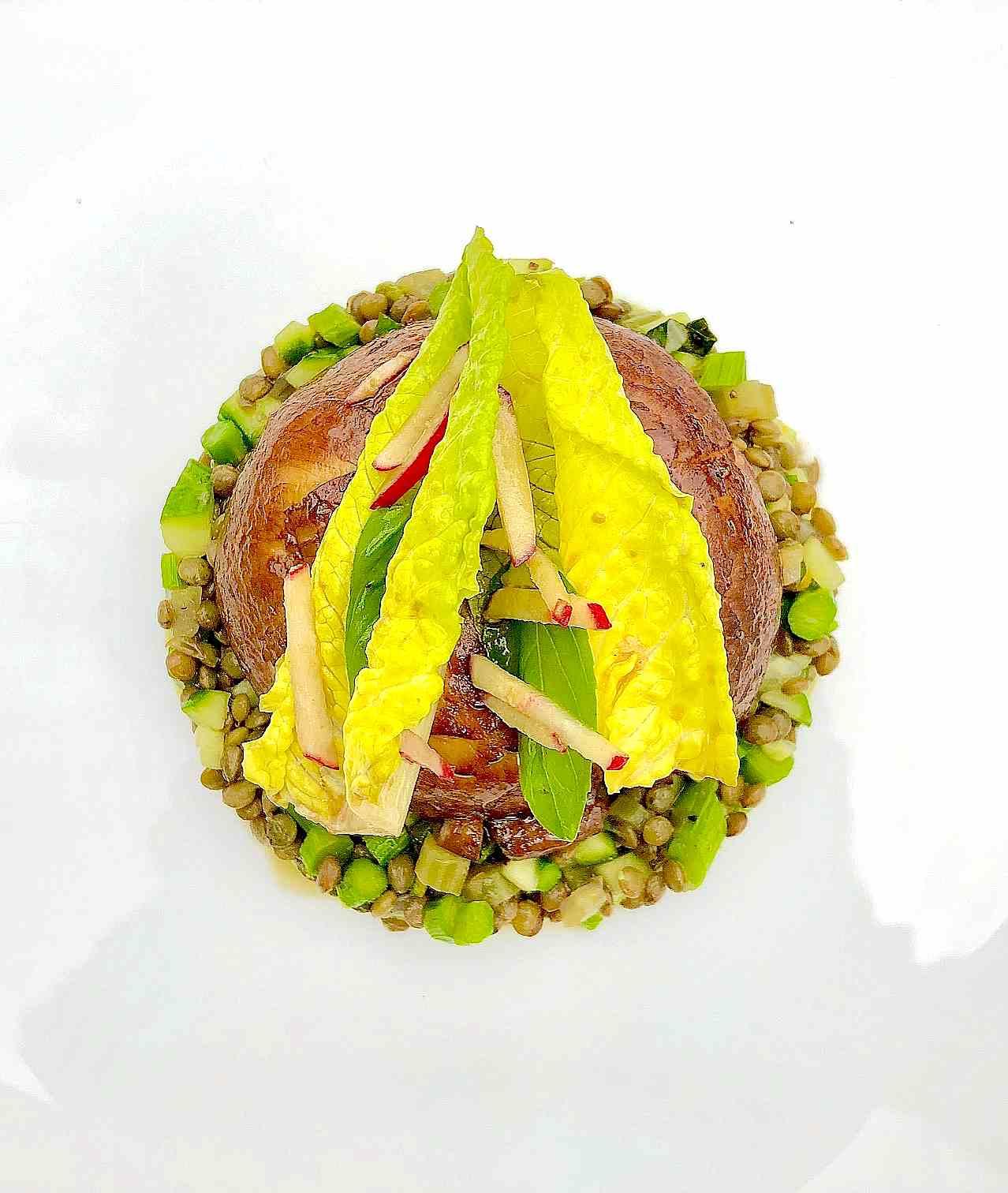 Lentil Salad recipe with portobello