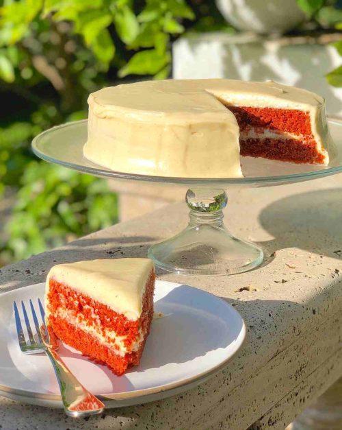 Red Velvet Cake Recipe with Cream Cheese Frosti