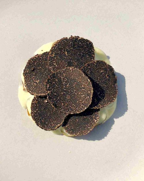 jerusalem artichoke with black truffle