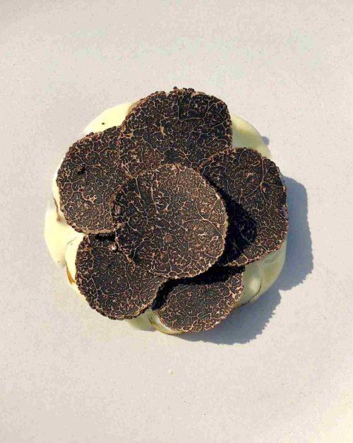 jerusalem artichoke with black truffle