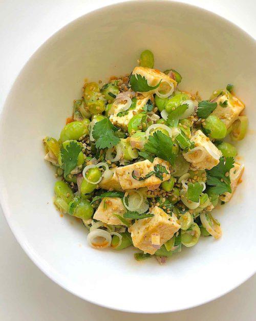 Edamame and Tofu Salad with Miso