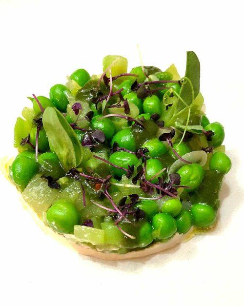 Peas, Chayote Squash, Almond