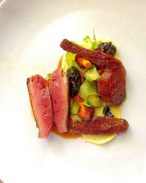 Squab recipe, Chanterelles, Carrot