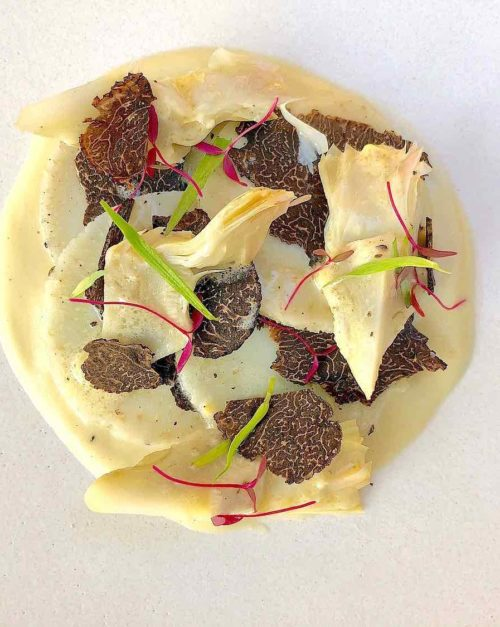 Artichoke recipe with Black Truffle