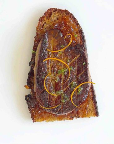 Seared Foie with Fig Jam and orange