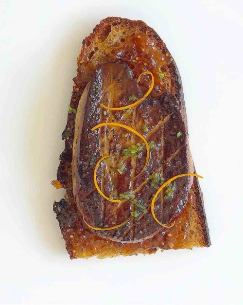 Seared Foie gras recipe with Fig Jam and orange