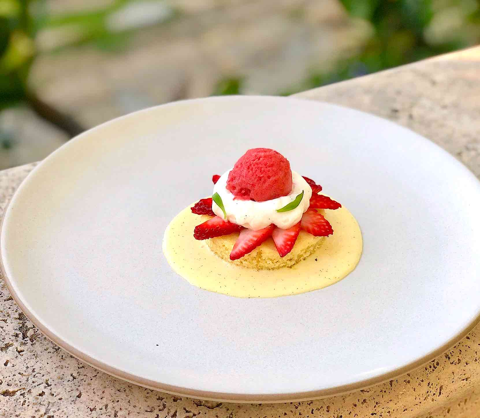 Strawberry Shortcake with olive oil cake
