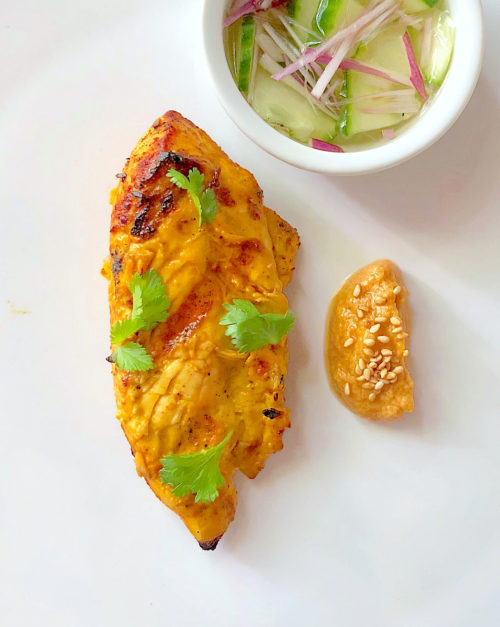 Thai Chicken Satay recipe with peanut sauce