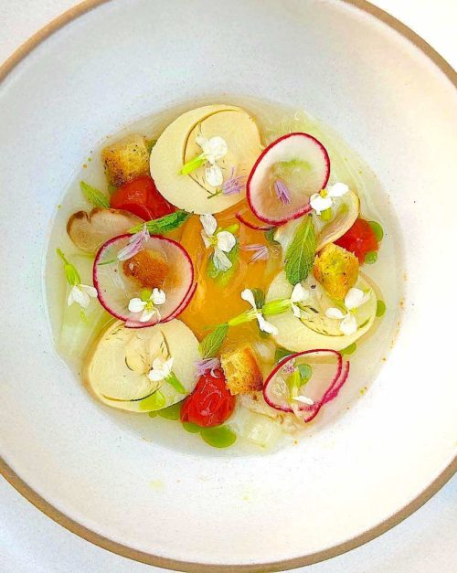 Hearts of Palm Recipe with Tomato Water