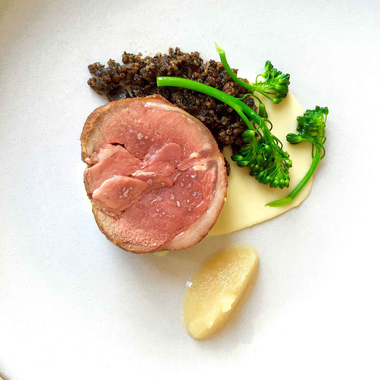 how to cook Lamb Saddle with Horseradish Jam