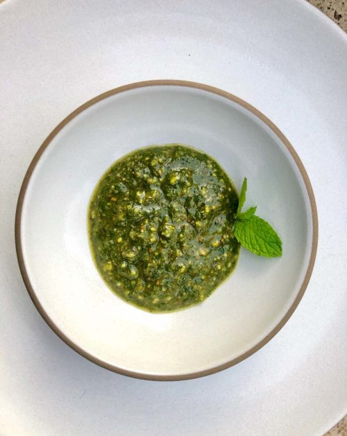 MInt and Pistachio Pesto