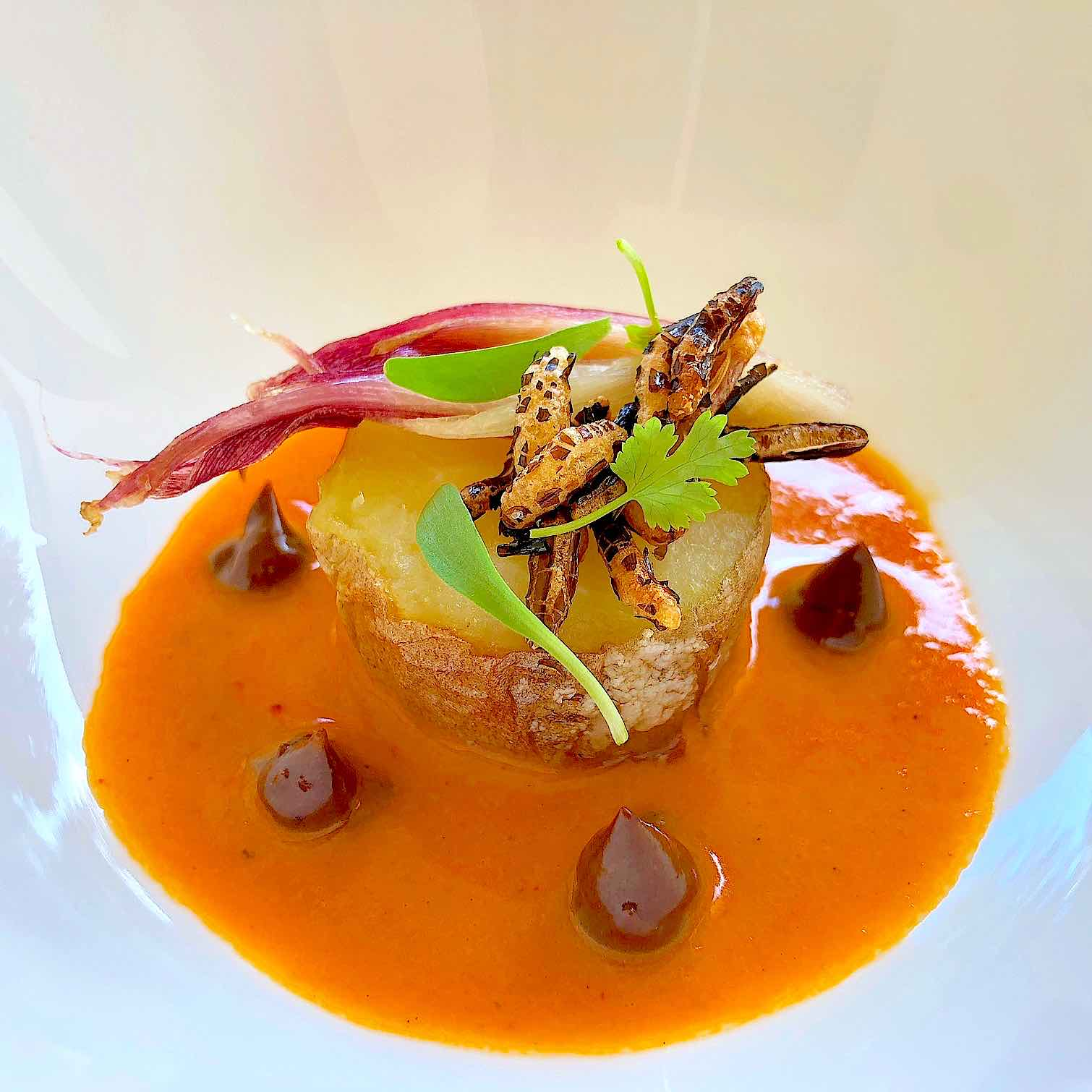 Sweet Potato with Thai Red Curry and Black Garlic