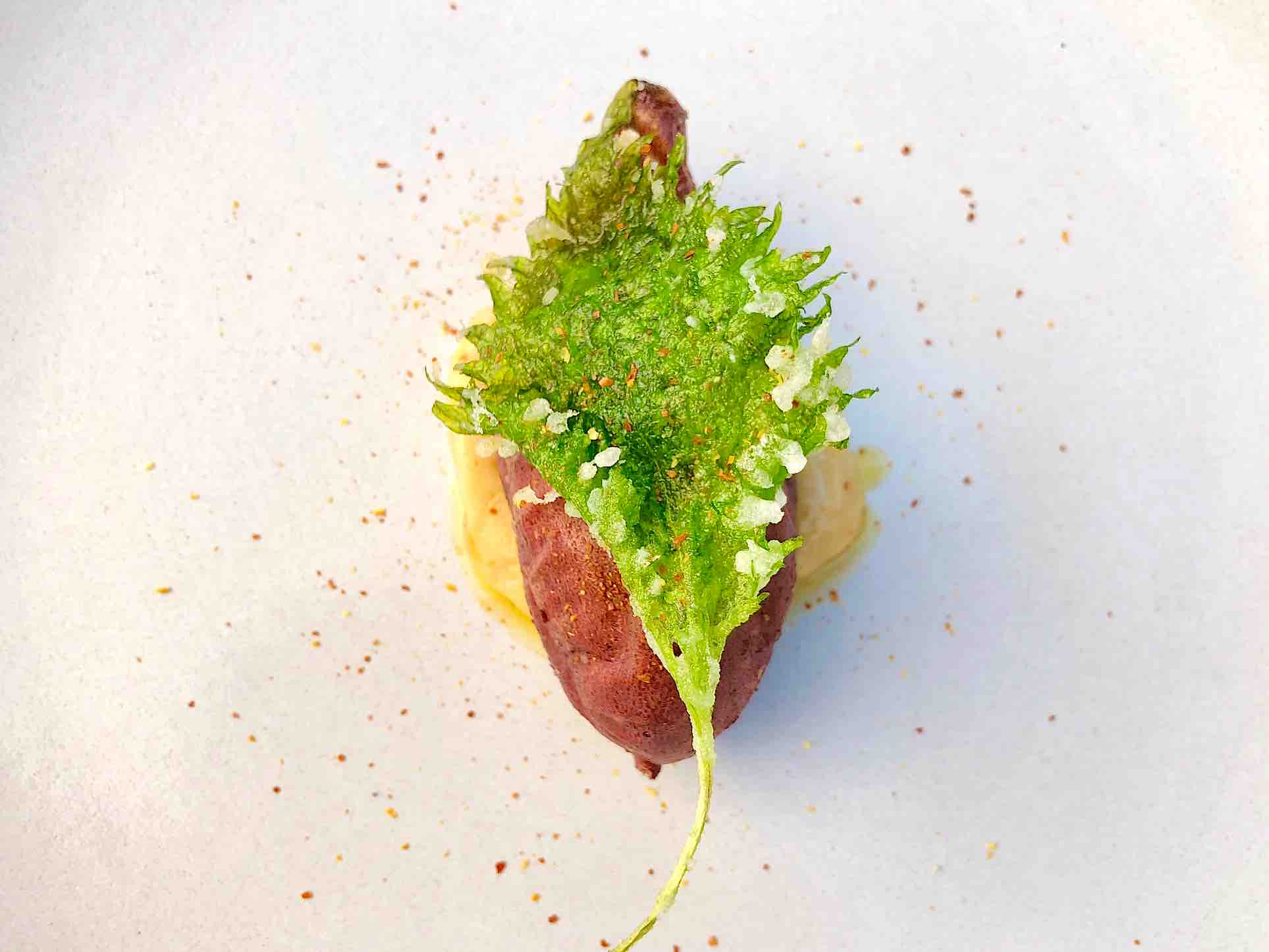 Sweet Potato with Miso and Shiso