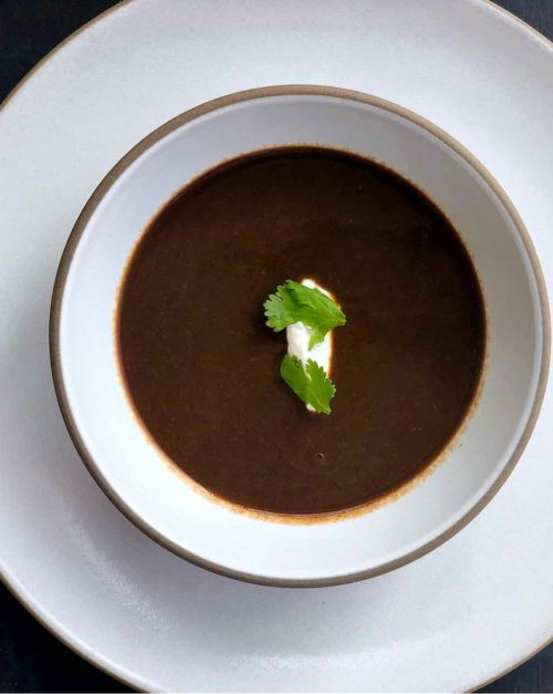 vegan black bean soup recipe