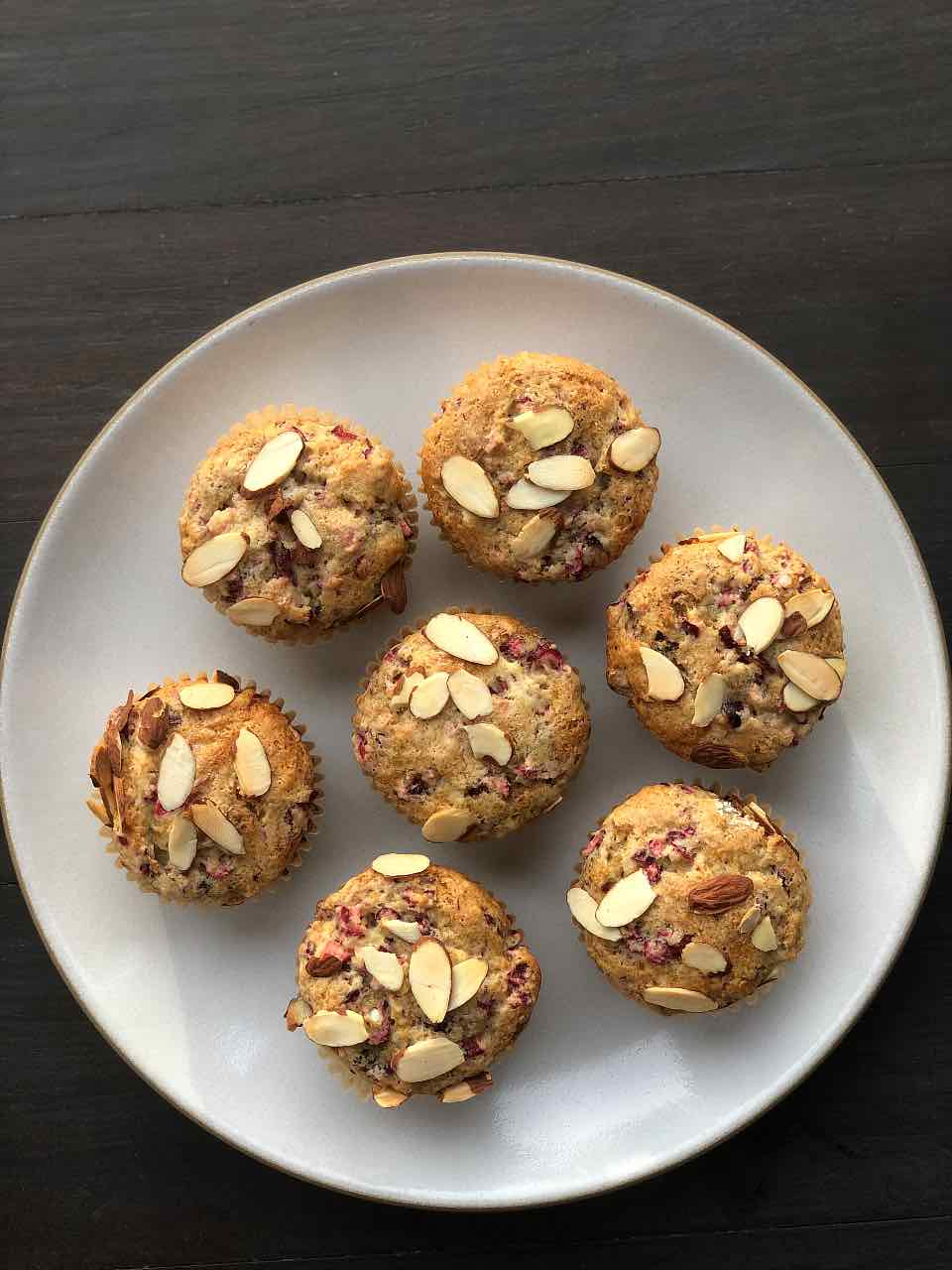 Cranberry muffin recipe with almond