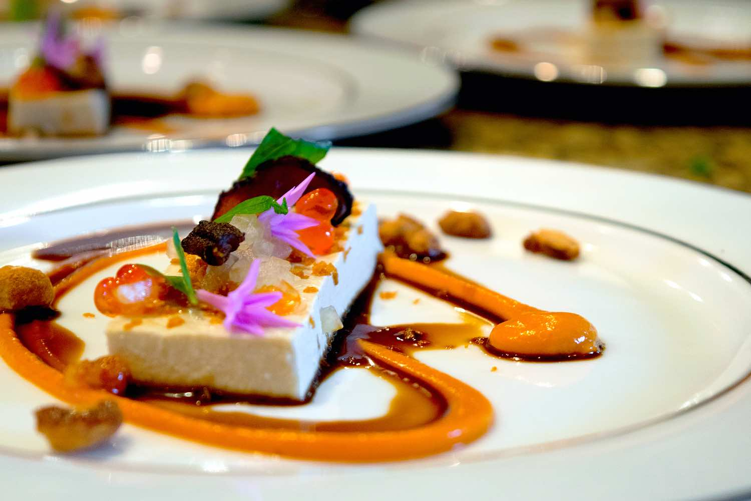 eggplant -Miso Panna Cotta and red curry