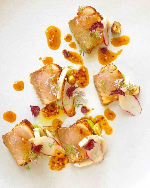 Salmon Tataki Recipe with Coconut