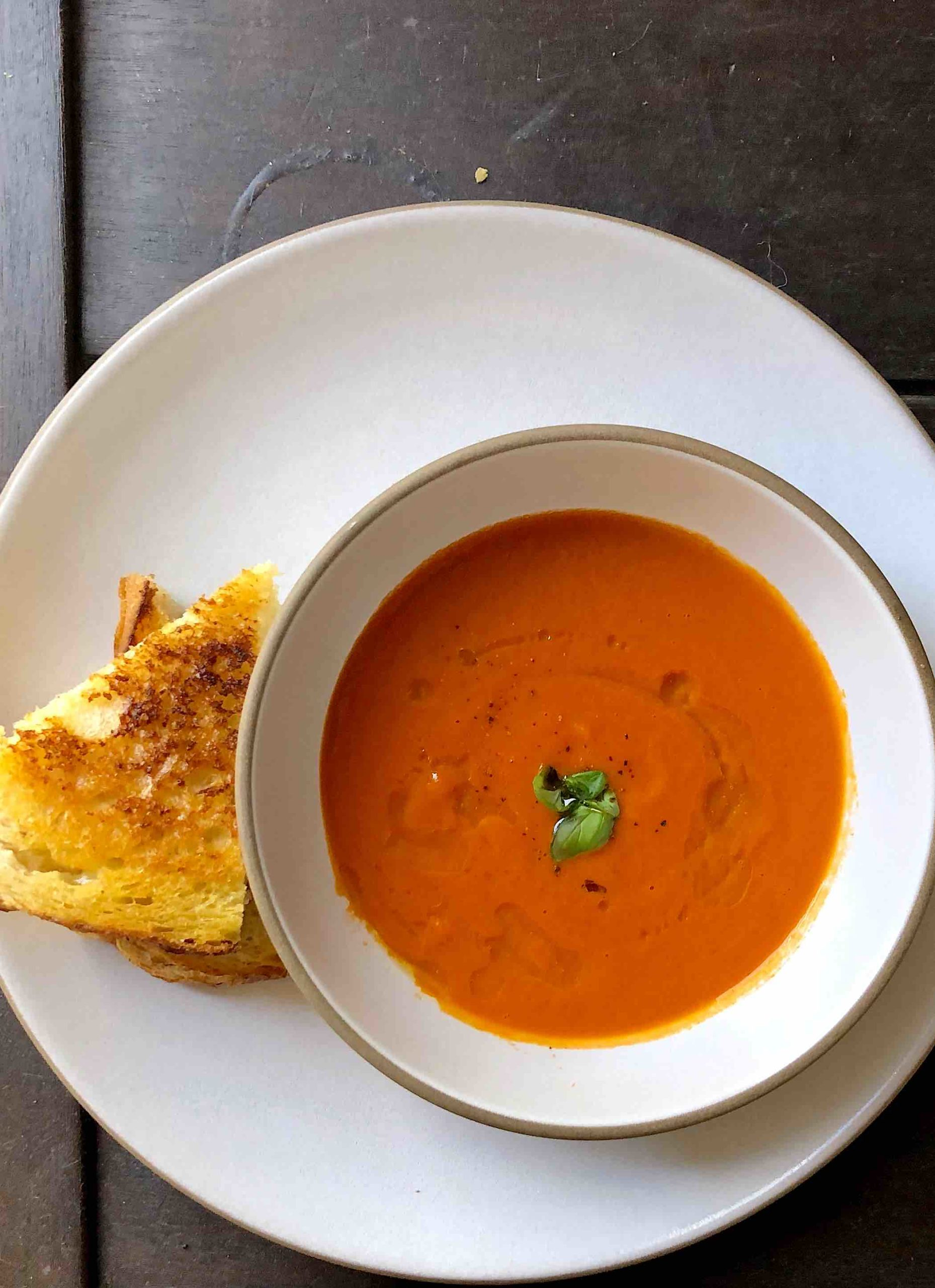 tomato soup recipe with grilled cheese