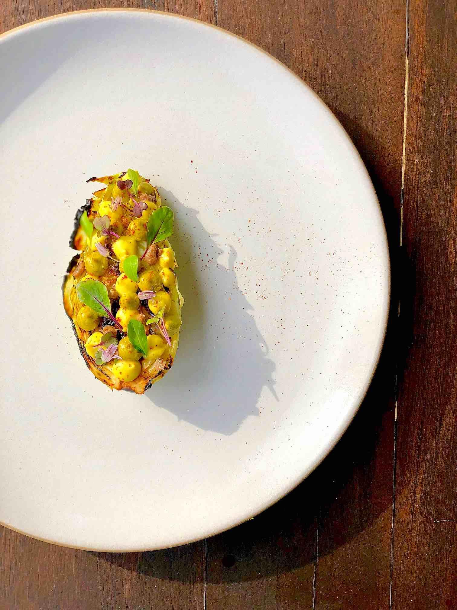 Cabbage, Pistachio, Citrus, Anchovy