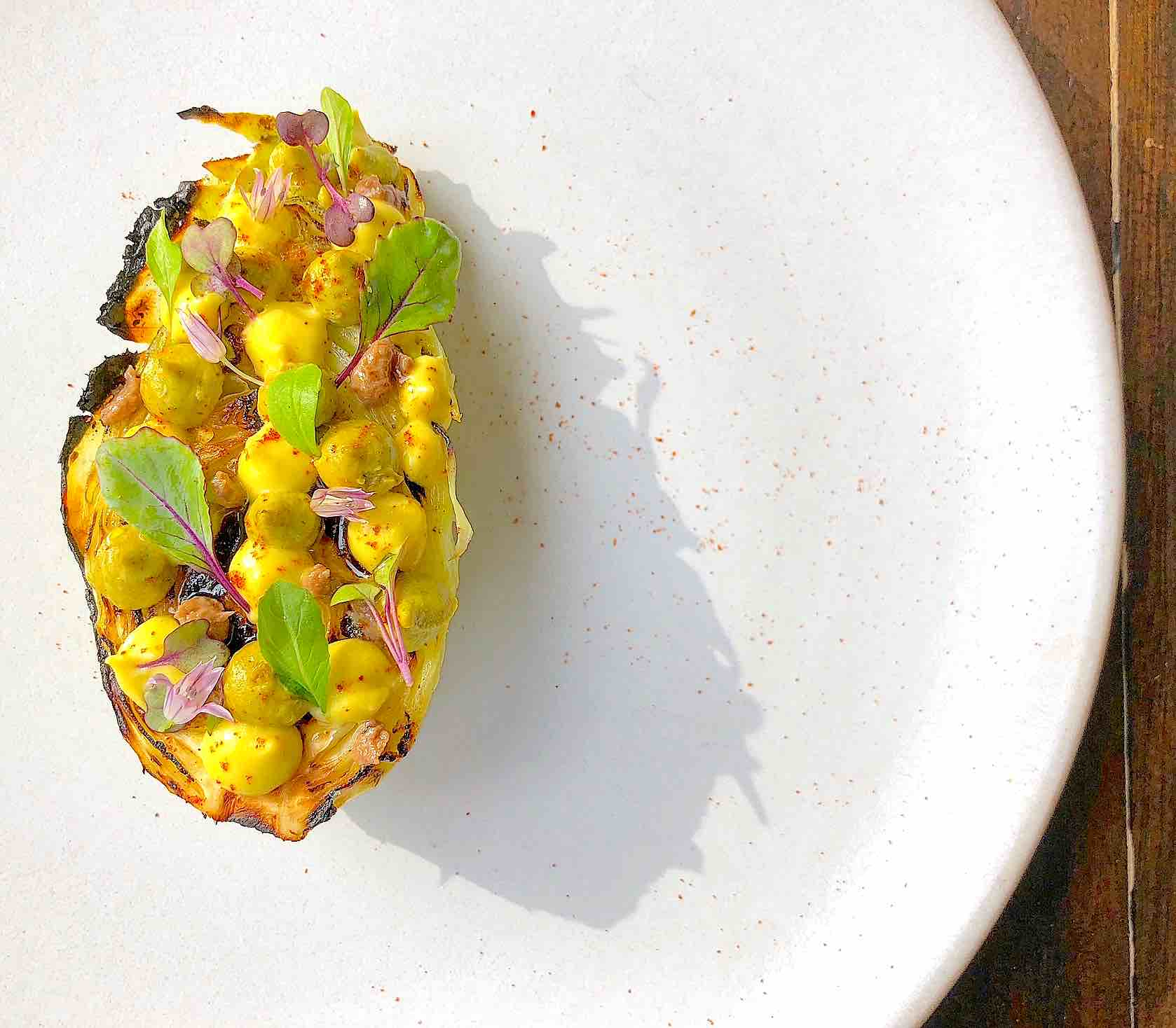 Roasted Cabbage recipe with Citrus, pistachio, Anchovy