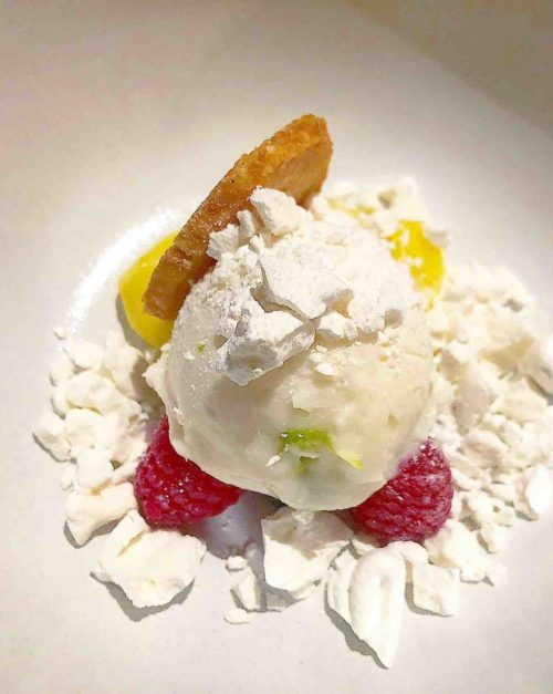 Easy Lime Sorbet with Lime Curd & Meringue