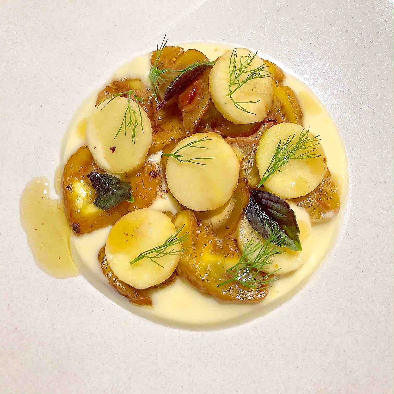 Chestnut, apple and Fennel