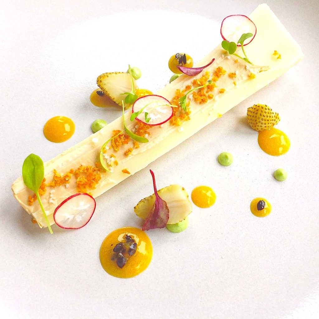 Fresh Hearts of palm with foie gras