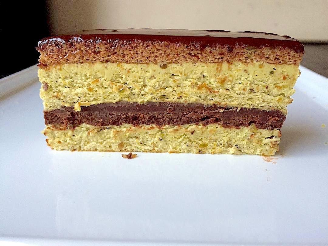 pistachio opera cake recipe