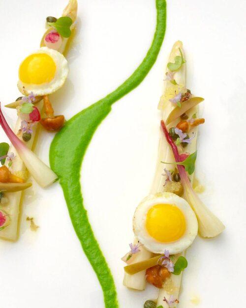 white asparagus escabeche