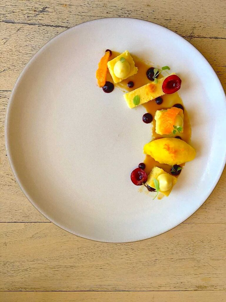 best cheesecake recipe with orange, cherry, and amaretto!
