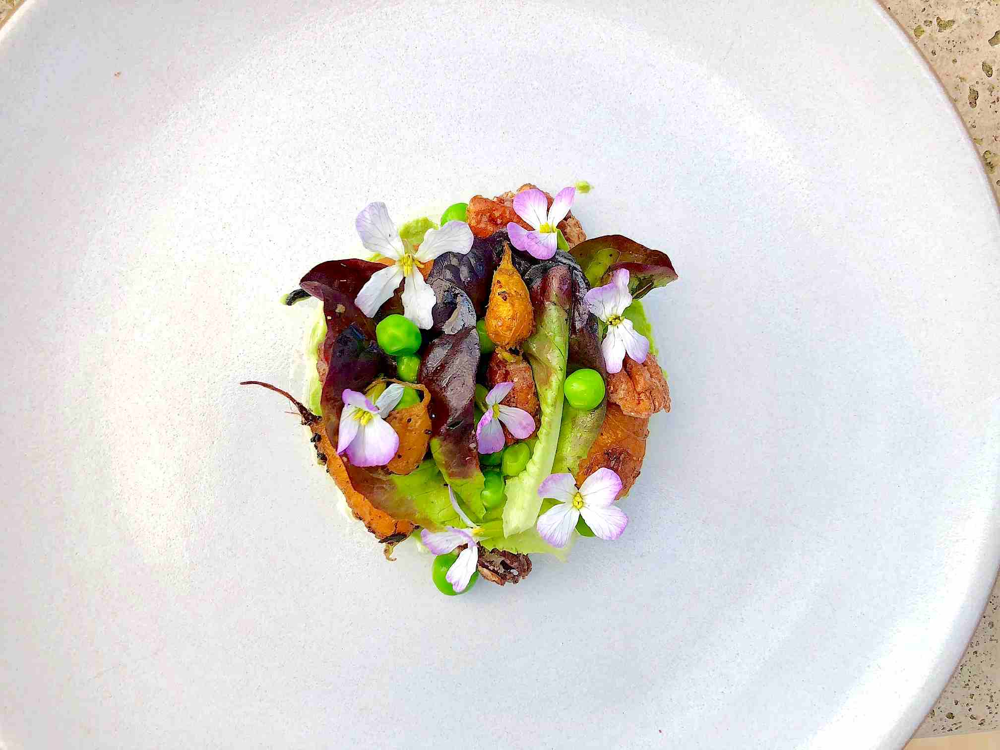 Spring Salad with Peas and Carrots