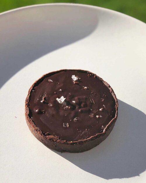 chocolate tart with Maldon salt