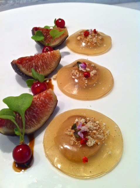 Foie Gras Ravioli with Figs and Currants