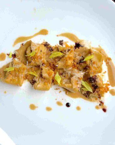 parsnip tortellini and foie