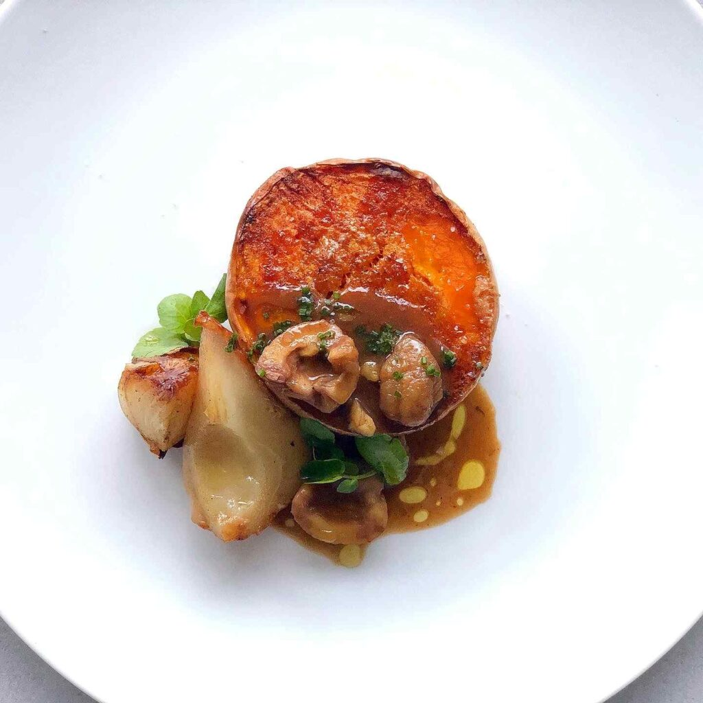 Butternut Squash with Pear and Chestnuts with 5 spice