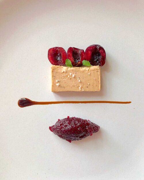 Foie gras terrine and Cherry jam